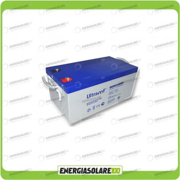 Batteria Ultracell Gel 250Ah 12V Deep Cycle impianto solare eolico isola