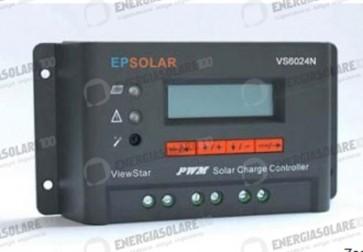 Regolatore EP Solar 12-24V 60A con crepuscolare e display