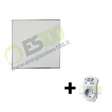 Kit pannello radiante ad infrarossi 400W in Alluminio con Termostato max 12mq