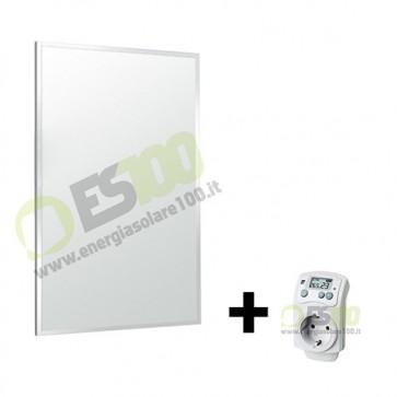 Kit Pannello Termico a Infrarossi 600W in Alluminio + Termostato max 25mq