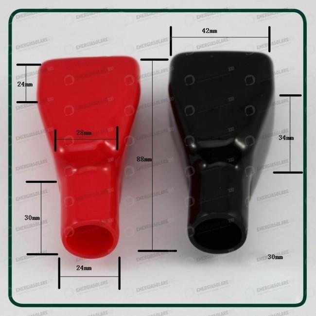 coppia di cappucci isolatori corpi polo rosso e nero. Black Bedroom Furniture Sets. Home Design Ideas