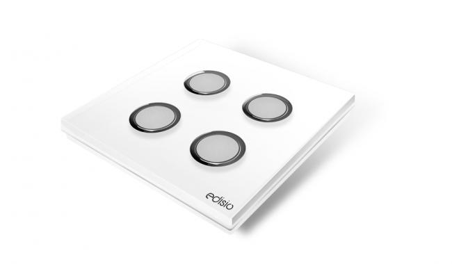 Interruttore wireless bianco 4 canali base bianca elegance edisio
