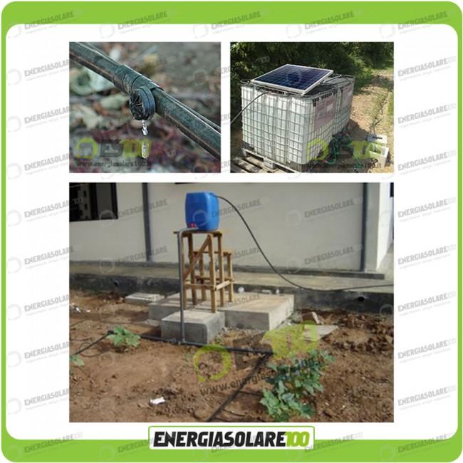 Pannello Solare Per Pompa Pozzo : Kit fotovoltaico per irrigazione v pompa sommergibile
