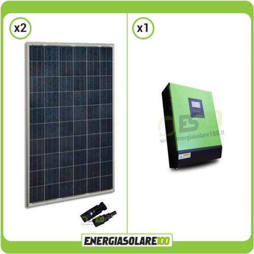 Pannello Solare Ibrido Ad Idrogeno : Kit casa solare fotovotlaico con inverter ibrido ad onda