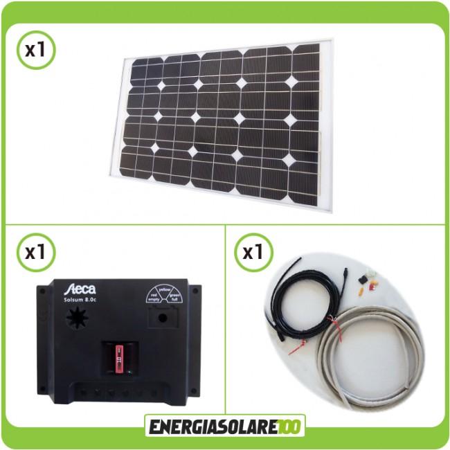Regolatore Pannello Solare Per Camper : Kit camper w pannello solare mono regolatore da a