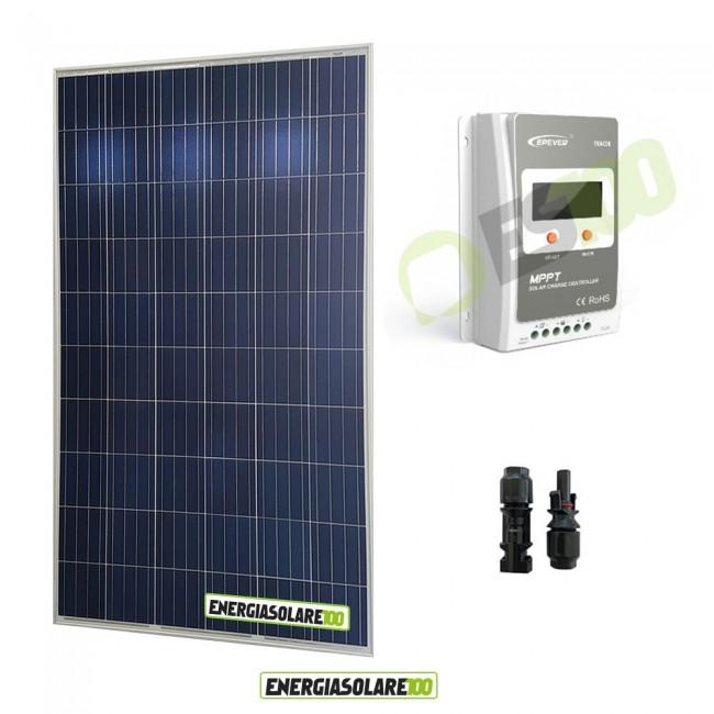 Kit Regolatore Di Carica Pannello Solare : Kit starter pannello solare fotovoltaico w v