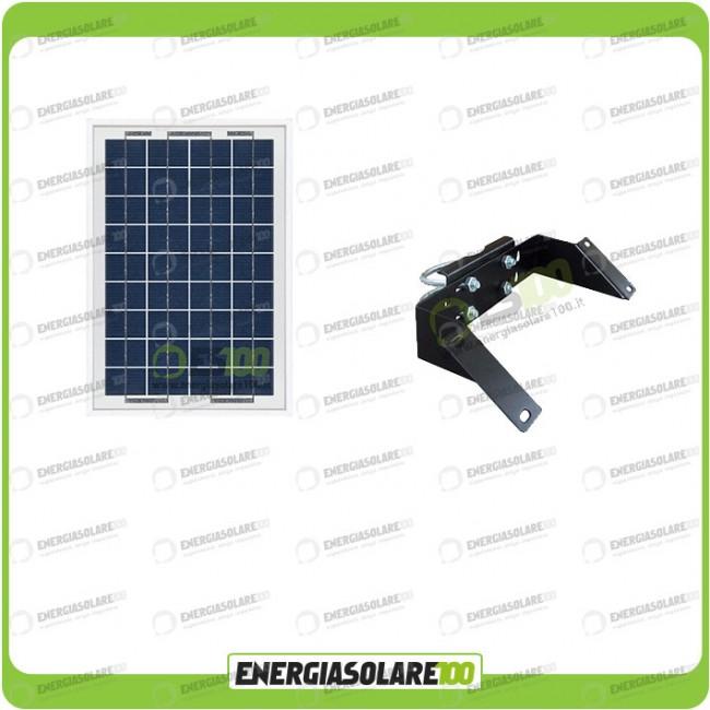 Kit Pannello Solare 10w : Kit supporto con pannello solare w v testapalo