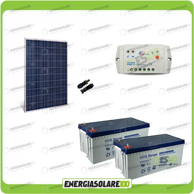 Kit Pannello Solare E Batteria : Kit starter plus pannello solare hf w v batteria gel