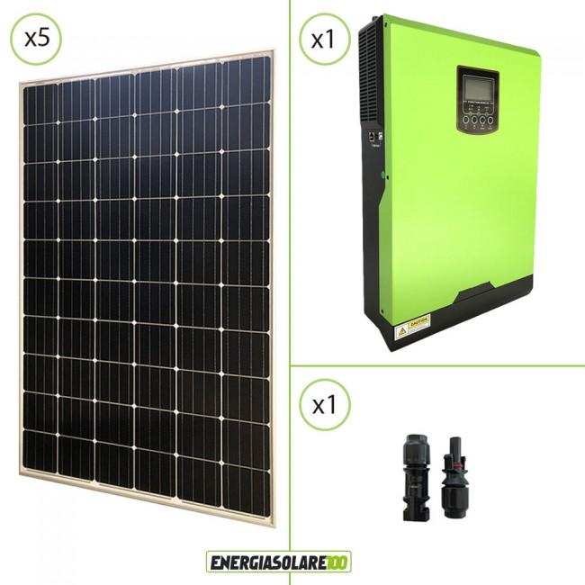 impianto solare fotovoltaico 1 5kw 24v pannello europeo
