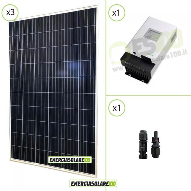 Kit Pannello Solare Con Regolatore Di Carica : Kit starter pannello solare fotovoltaico w v