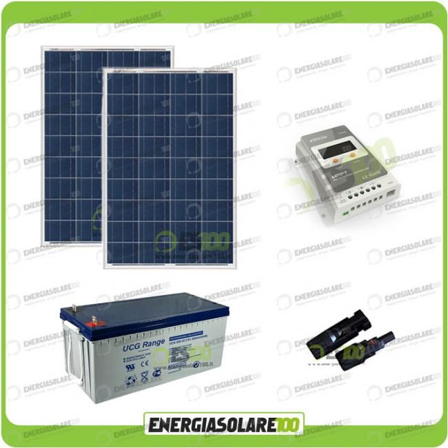 kit solare 200w alimentazione video sorveglianza 12volt per dvr e 2 telecamera 24h al giorno. Black Bedroom Furniture Sets. Home Design Ideas