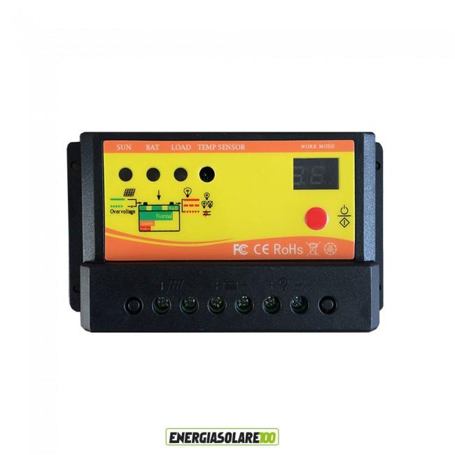Regolatore Di Carica Pannello Solare 100w : Kit starter pannello solare monocristallino w v