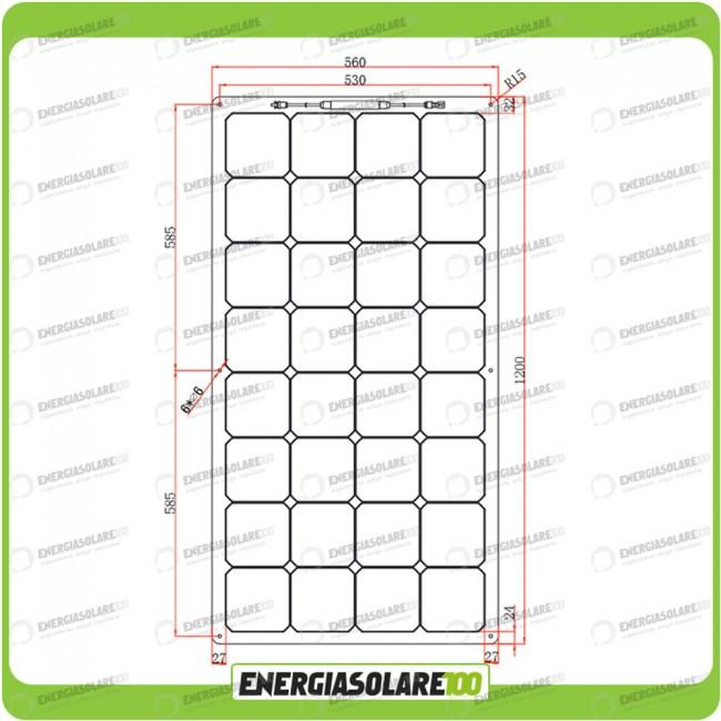Pannello Solare Per Ricaricare Auto Elettrica : Kit solare fotovoltaico per roulotte e caravan da w v