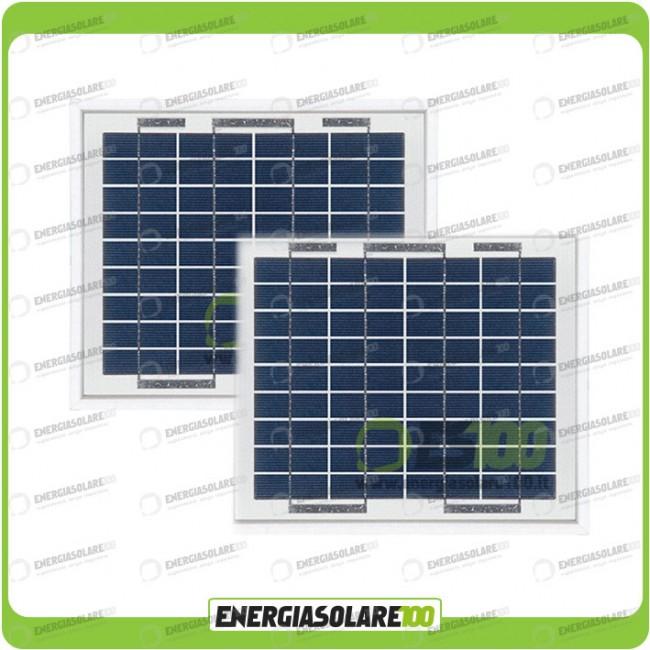 Stock 2 Pannelli Solari Fotovoltaici 5W 12V multiuso Pmax 10W Energiasolare100.com