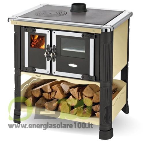 Cucina a legna tilde in metallo con scarico fumi superiore - Scarico fumi cucina ...