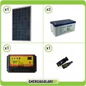 Kit Starter Pannello Solare KA 250W 24V Batteria Gel 200Ah  Regolatore PWM 10A NV10