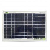 Pannello Solare Fotovoltaico 10W 12V Carica Batteria Auto Camper Nautica + Ebook