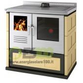 Cucina a Legna Gemma2 Maiolica Sc. Fumi Posteriore Destro 8,3 KW