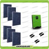 Kit Casa Solare Base 1500W Serie HF 48V Inverter Edison50 5000VA 4000W con regolatore PWM 50A