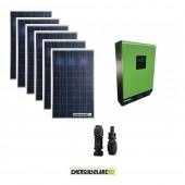 Kit fotovoltaico Solare 1.6KW pannelli solari Serie HF 48V Inverter ibrido ad onda pura Genius50 5KW con regolatore di carica MPPT 80A 450voc