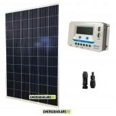 Kit solare 24V con pannello fotovoltaico 270W e regolatore 20A PWM con uscite USB