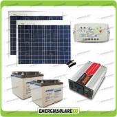 Kit baita pannello solare 100W 24V inverter onda modificata 600W batteria AGM 38Ah LS