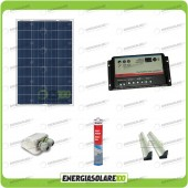 Kit Camper pannello solare 80W 12V passacavo supporto spoiler colla sigillante regolatore di carica