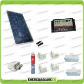 Kit Camper pannello solare 200W 12V passacavo supporto spoiler colla sigillante regolatore di carica