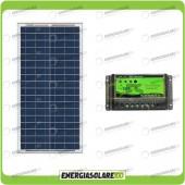 Kit Solare Fotovoltaico 30W 12V Mantenimento