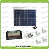 Kit Solare Camper Base 50W (Pannello Solare + Regolatore per doppia batteria + Passacavi)