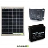 Kit Starter Plus 20W (Pannello Solare EJ + Regolatore +Batteria)
