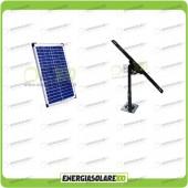 Kit Pannello Solare 20W con Supporto di fissaggio Regolabile