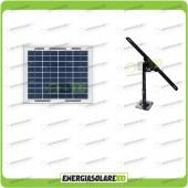 Kit Pannello Solare fotovoltaico 5W 12V con Supporto di fissaggio Regolabile