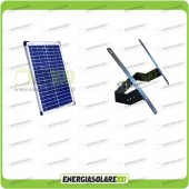 Kit Supporto con Pannello Solare 20W 12V con Testapalo