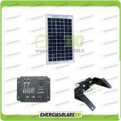 Kit Pannello Solare 5W 12V EJ regolatore di carica 5A Supporto di fissaggio testapalo