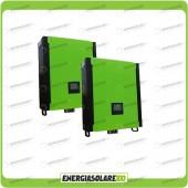Kit 2 Inverter INFINITY monofase 10000VA 10000W 48V + Regolatore di Carica MPPT 20Kw 900Voc