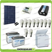 Kit Solare Fotovoltaico isolati dalla Civiltà 250W x Luci Frigo incluso Off-Grid