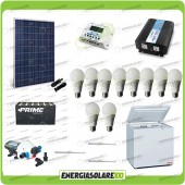 Kit Solare Fotovoltaico isolati dalla Civiltà 250W x Luci Frigo incluso Pompa Off-Grid