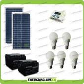 Kit Solare Fotovoltaico isolati dalla Civiltà 60W 24V x Luci e Cellulari Tablet