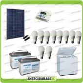 Kit Solare Fotovoltaico isolati dalla Civiltà 250W x Luci Frigo incluso