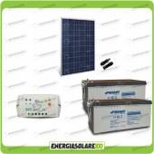Kit Starter Pannello Solare HF 270W 24V Batteria AGM 200Ah  Regolatore PWM 10A LS1024B
