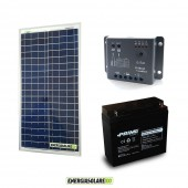 Kit Starter Plus NX 30W 12V Regolatore PWM 5A Epsolar Batteria AGM 18Ah Deep Cycle