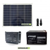 Kit Starter Plus NX 50W 12V Regolatore PWM 5A Epsolar Batteria AGM 24Ah