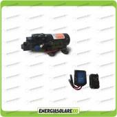 Kit Pompa Autoclave 12V 40PSI 2,8BAR 3,8 l/min serie SF + controllo remoto wireless (Autoclave 12-24V)