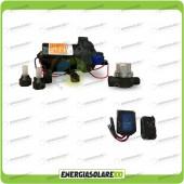 Kit Pompa Autoclave 12V 3BAR 11,6 l/min serie SF + controllo remoto wireless (Autoclave 12-24V)