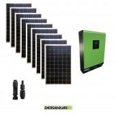 Impianto solare fotovoltaico 2.7KW 48V pannello europeo monocristallino Inverter ibrido Genius50 48V 5KW MPPT 80A