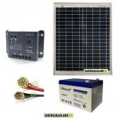 Kit Starter Pro EJ 20W 12V con batteria UCG 12Ah e cavi 2.5mmq PVC