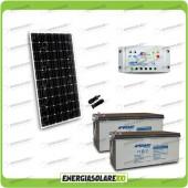 Kit Starter Plus Pannello Solare 300W 24V Batteria Agm 200Ah  Regolatore PWM 20A LS2024B
