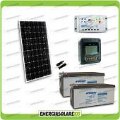 Kit Starter Plus Pannello Solare 300W 24V Batteria Agm 200Ah  Regolatore PWM 20A LS2024B e Display MT-50