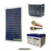 Kit Starter Pro 30W 12V con batteria UCG 12Ah e cavi 2.5mmq PVC